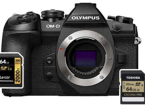 olympus em1 mark ii sd cards