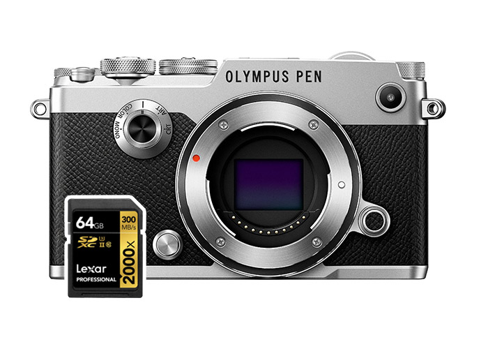olympus pen-f sd cards